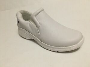 NWOB Nurse Mates Dove 229904 White Leather Nursing Shoes US Sz 7M