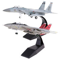 2Pcs 1/100 New Scale Simulate F-14 F-15 Fighter Diecast Airplane Model Toy Worth
