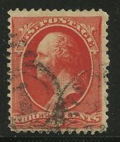 US Scott #214, Single 1887 George Washington 3c Fine+ Used