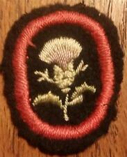 1912-1918 Girl Scout White Felt Badge era Troop Crest THISTLE on Black Felt
