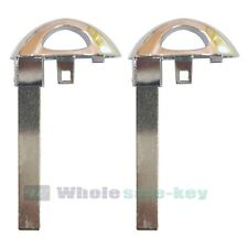 2 New Replacement Smart Key Uncut Blade Blank Emergency Insert For Buick Enclave