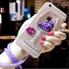 Dynamic Liquid Glitter Quicksand Soft TPU Phone Back Case Cover & neck strap #A