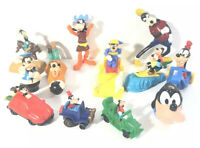 Lot of 12 Disney Goofy Toys. Mostly McDonald's Happy Meal Figures. Some Old.