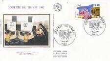 FRANCE 1992 FDC JOURNEE DU TIMBRE YT 2744