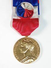 Vintage France Argent Silver Gold Plate Ornate A Borrel French Medal Pendant 925