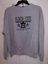 Florida State University Seminoles College Logo Embroidered  Sweatshirt Men's XL