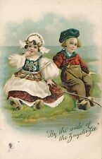 POSTCARD  COMIC  Children  Dutch  Kids  By the side of the Zuyderzee