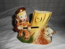 Davy Crocket, Daniel Boone boy vase