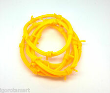 5X  Set Yellow Barbed Wire Gothic Rock Punk Wristbands Bracelets Silicone Bangle