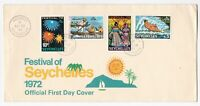 Seychelles FDC 1972 Festival of Seychelles '72 first day cover full set stamps