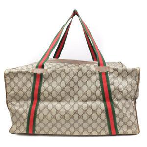GUCCI Boston bag handbag GGpattern coated canvas beige