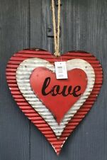 3D Corrugated Metal Heart Room Decor Love