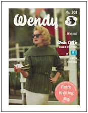 1950s Lady's Chunky Cable Jumper Vintage Knitting Pattern Copy - Hipster