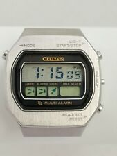 Citizen CQ Multi Alarm 40-1013 LCD Japan Digital Watch A RÉPARER