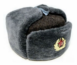 Genuine Russian Ушанка army winter hat with earflaps !!FAST FREE SHIPPING !!