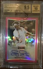 Roger Federer Metal Leaf 2016 Autograph Card /5! Graded 9.5 Gem Mint!
