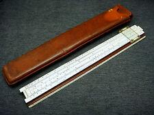 Vintage Keuffel Esser N4053-3 Polyphase Slide Rule & Leather Case
