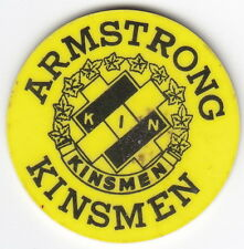 Armstrong B.C. Kinsmen Drink Token – Good For One Snort – Yellow