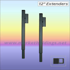 2 x 12 Inch Market Stall Upright Leg Extension Pieces - 1 Way Socket Extenders