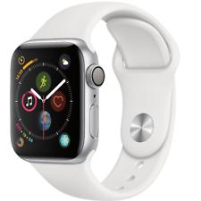 Reloj de la serie 4 40mm de Apple-GPS-banda Deportiva De Color Blanco Plateado