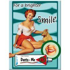 MAGNET 14030 - PIN UP GIRL - DENTO ME - 8 x 6 cm - NEU