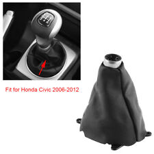 Manual PU Leather Gear Shift Stick Gaiter Boot Cover For Honda Civic 2006-2012