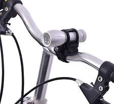 SUPER luminosi 9 LED Luce Bici Frontale Torcia portatile in Lega con staffa universale