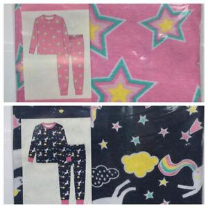 Girls Boys 100% Cotton Stars Unicorns Cloude Pyjama Pj's New