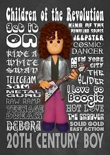 Inspired by Marc Bolan T Rex Greeting Birthday Card