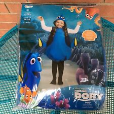Disney Pixar Finding Dory Costume Size 4-6x Disguise Halloween Blue Tang Fish