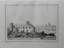 ITALIA: CATANIA,VEDUTA CITTA E CASTELLO URSINO.= LEMAITRE.SICILIA.Artaud.1835