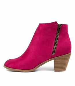 New I Love Billy Nolo Fuchsia Microsuede Fuchsia Womens Shoes Casual Boots Ankle