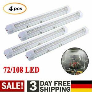 1x-4x 12V LED Streifen Leuchte Röhre 108LEDs Auto Van VOLT Stablampe Lichtleiste
