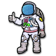 Space Explorer Patch Iron On Sew Astronaut Nasa Logo Planet Cartoon UFO Badge