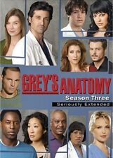 GREY'S ANATOMY - SEASON Three 3 Seriously Extended 7xDVD Box Set Aussie Seller