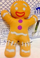 New Gingy Gingerbread Man Shrek 3rd Dreamworks Toy Factory Plush Holiday Cookie