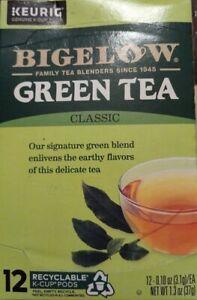 Bigelow Green Tea Classic Keurig 12ct pods EXPIRE 11/2021
