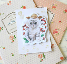 Little Cat Sticky Notes cute cartoon kitty planner diary note kawaii memo pad