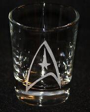 Star Trek Command Symbol Custom Etched Shot Glass
