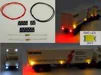 SMD LED 0603 Beleuchtungsset Bausatz 16 tlg. für LKW Spur N C2814