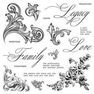 CTMH S2003 Family Legacy NEW Stamp Set love heritage faith together love