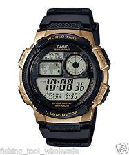 AE-1000W-1A3 Black Gold Casio Men's Watch Standard Digital Black 10-Year Battery