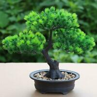 1x Artificial Bonsai Tree Pine Welcoming Plants Fake Green Simulation Decor DIY