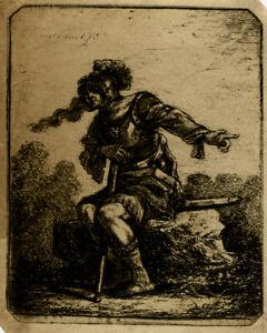 Antique Master Print-GENRE-SOLDIER-ARMOR-Rembrandt-Norblin de la Gourdaine-1775