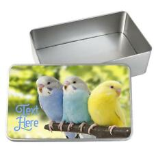 Personalised Pet Food Storage Tin BUDGIE Bird Seed Food Container Box ST730