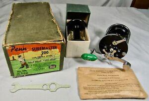 Penn 200 Surfmaster Casting Reel c. 1956, New Old Stock w/ Box & Extra Spool, +!