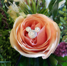 SPECIAL OFFER!!! 6 disney style Crystal  Mickey Mouse Hidden Ears Flower pin