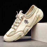Mens Leather Slip On Boat Deck Moccasin Designer Loafers Driving Shoes Size US