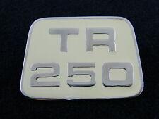 TRIUMPH TR250 BONNET BADGE NEW