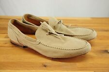 Brooks Brothers Worn Once Italy Light Tan Suede Unlined Loafer Driving Mocs 12